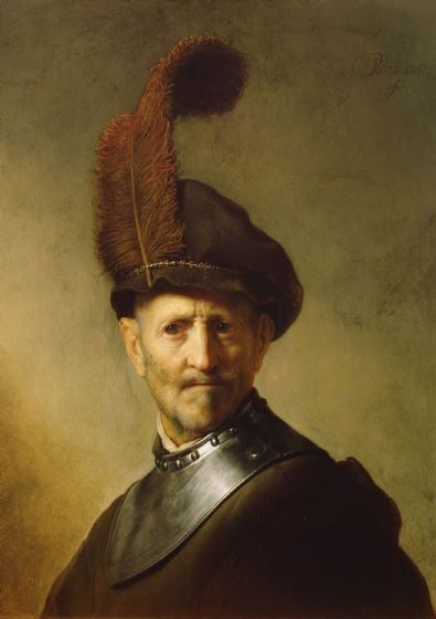 Rembrandt: An Old Man in Military Costume. Fine Art Print/Poster (4938)